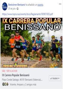 IX CARRERA POPULAR BENISSANO. CIRCUITO DE CARRERAS POPULARES DEL CAMP DE TÚRIA 2018. RUNNERS. FOTOGRAFIA DEPORTIVA. FOTOGRAFO DEPORTIVO. FOTOS RUNNERS