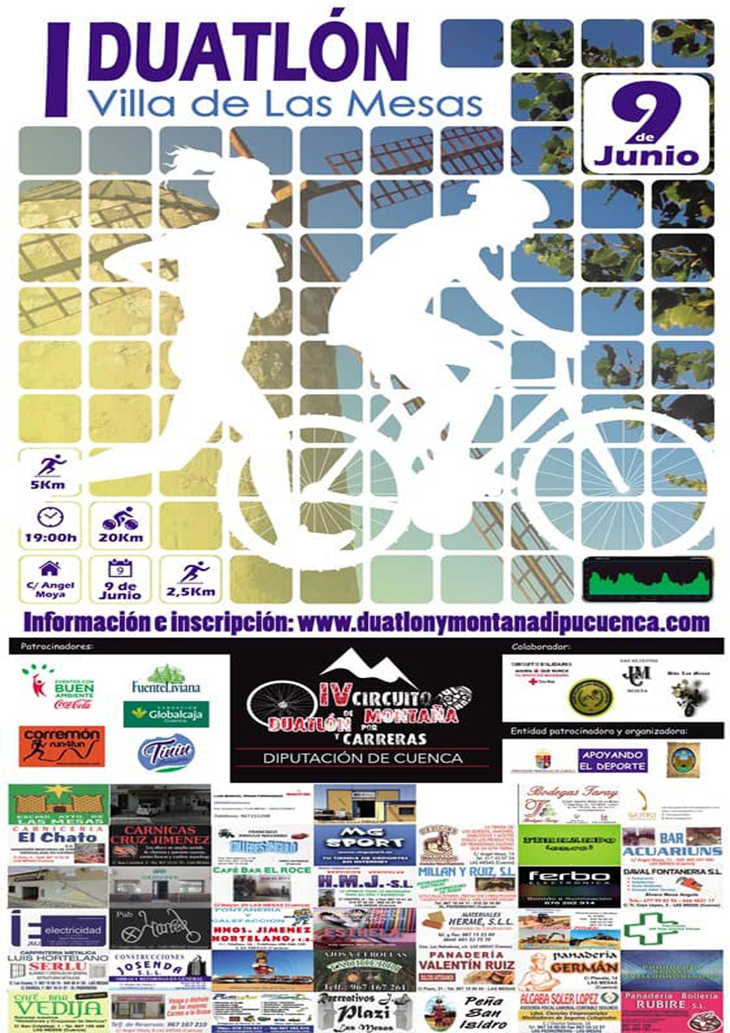 Circuito Diputacion Duatlon Croos Las Mesas. Mountain Bike. Runner. Montaña.