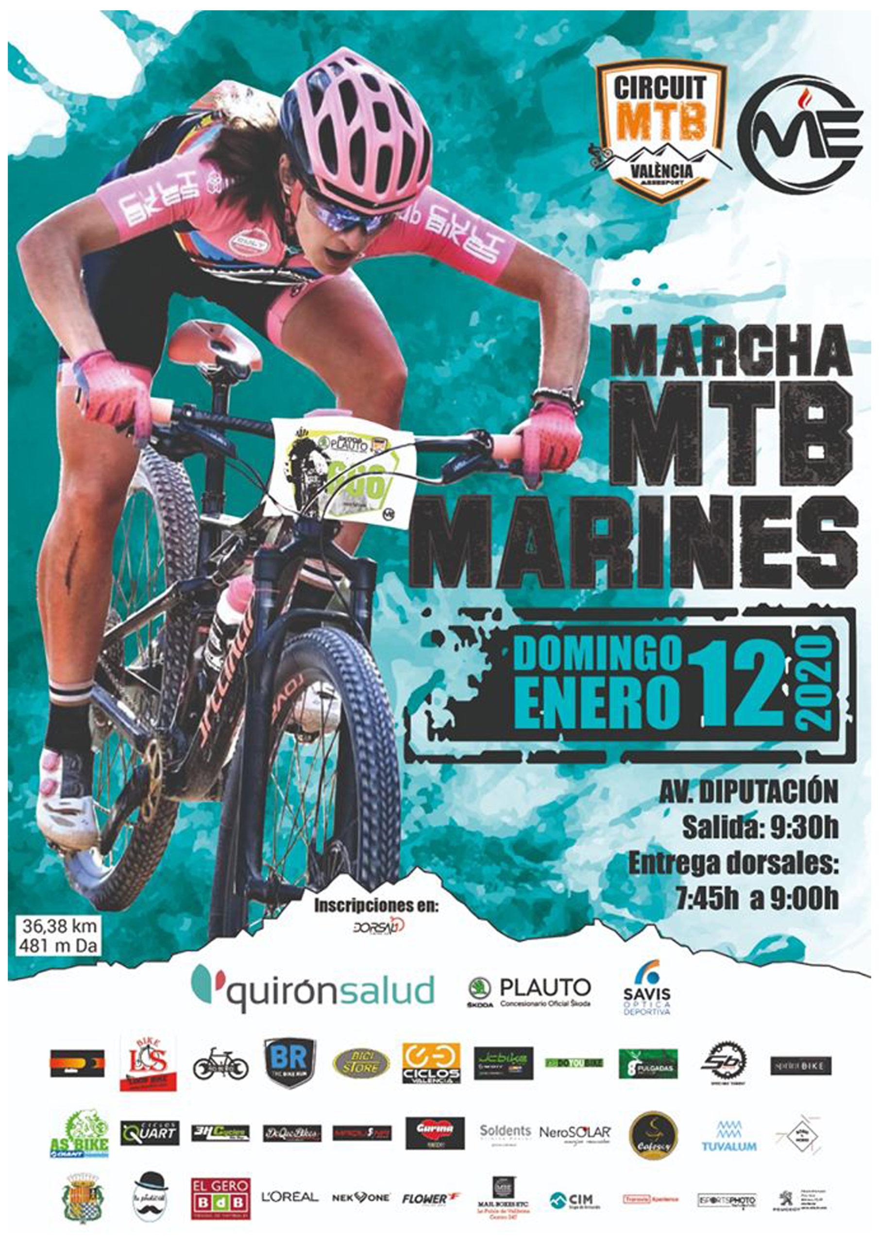 Marcha BTT, Marcha MTB, Marcha BTT Marines 2020, Marcha MTB Marines 2020 Circuit mtb Valencia, Circuito Serrania, Mountain bike,